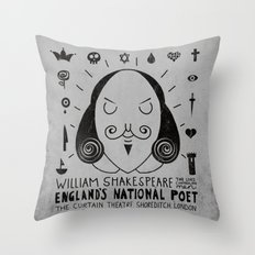 England's National Poet Throw Pillow