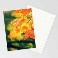 Lovely Yellow Leaves Stationery Cards