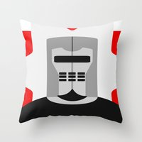 knight Throw Pillows featuring Knight by Vipes