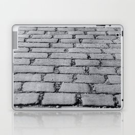 Cobbled Road Black and White Photography Laptop & iPad Skin
