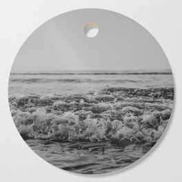 Black and White Pacific Ocean Waves Cutting Board