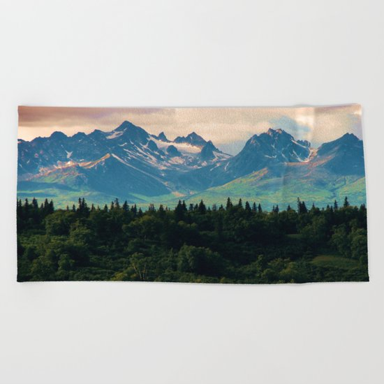 Escaping from woodland heights II Beach Towel
