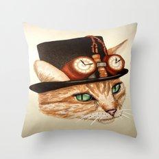 Punk Cat Throw Pillow