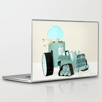 karen hallion Laptop & iPad Skins featuring Karen form Chicks & Wheels by Simone Massoni