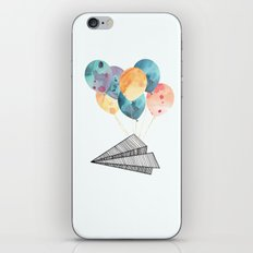 Fly paper plane! iPhone & iPod Skin