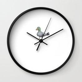 Pigeon Feels Wall Clock
