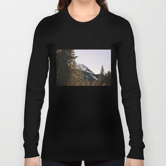 Snow Mountain in the Trees Long Sleeve T-shirt
