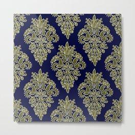 Ornate Vintage Pattern Metal Print