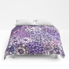 Faded Blossoms Comforters