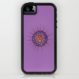 funky sea ​​urchin with heart iPhone Case