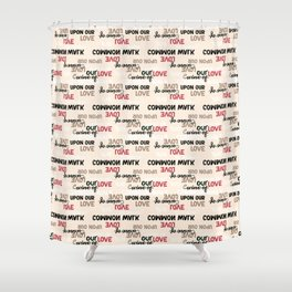 English Typography from Hafez Persian Poet Shower Curtain