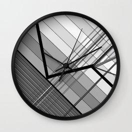 Gray Geometry 2 Wall Clock