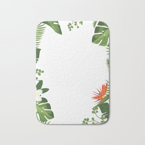 Nature flower 4 Bath Mat