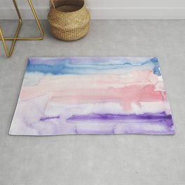 15    190907   Watercolor Abstract Painting Rug
