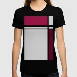 Cross Lines Deep Pink T-shirt