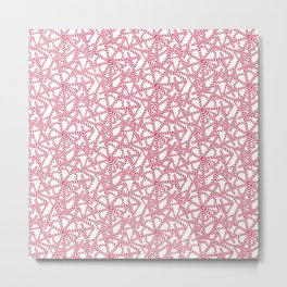 Candy cane flower pattern 5 Metal Print