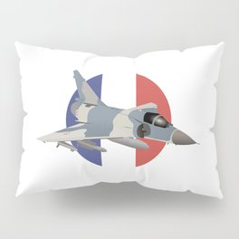 Mirage French Jet Fighter Pillow Sham