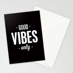 Good Vibes Only Black and White Typography Print Office Decor Wake Up Bedroom Poster Stationery Cards