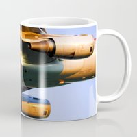 plane Mugs featuring Plane by Luc Girouard