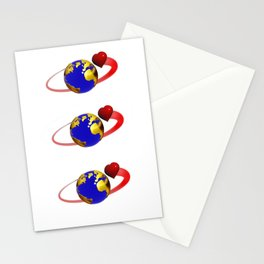 love is all around, #hatetolove Stationery Cards