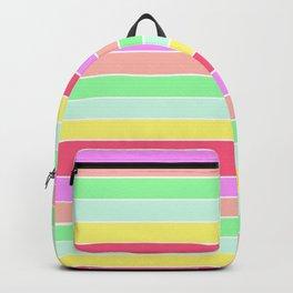Pastel Rainbow Sorbet Horizontal Deck Chair Stripes Backpack