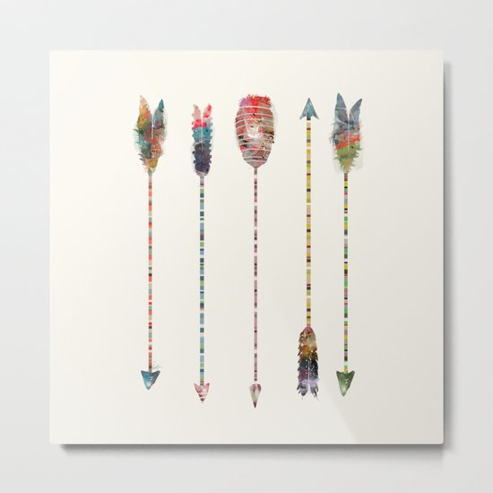 native earth arrows Metal Print