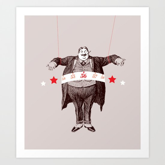 Am I Fat? Art Print