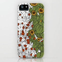 Great Prairie with Sunflowers iPhone Case