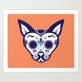 Day of the Dead Cat Art Print