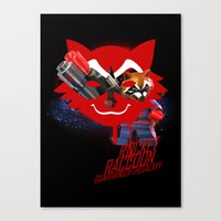 rocket raccoon Canvas Prints featuring Rocket Raccoon by Markusian