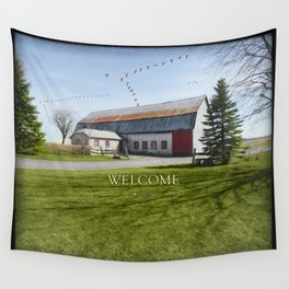 Barn & Geese - Welcome Wall Tapestry