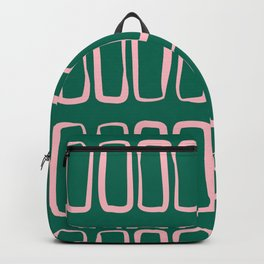 Handrawn Boho Rectangles No 02 Backpack