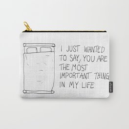 Talking to beds Carry-All Pouch