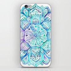 Iridescent Aqua and Purple Watercolor Mandala iPhone & iPod Skin