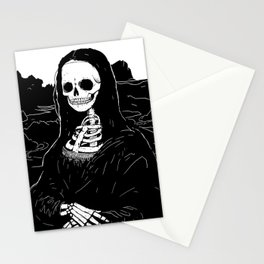 Skeleton Mona Lisa Stationery Cards
