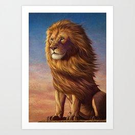 Lion 04, Lion King. Art Print