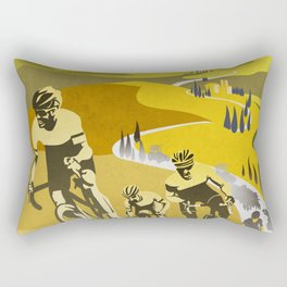 Strade Bianche retro cycling classic art Rectangular Pillow