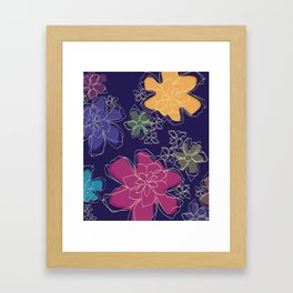 Floral - #Bright #Flowers #Abstract #Pattern Framed Art Print