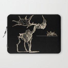 Vintage Elk Skeleton with Friends Laptop Sleeve