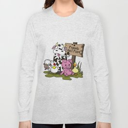 Friends Not Food Animal Rights Pig Cow present Long Sleeve T-shirt