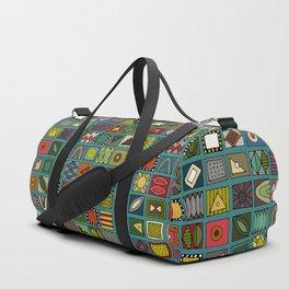 el geo teal Duffle Bag