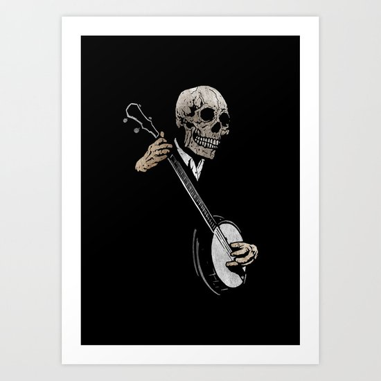 Skullboys' Banjo Blues Art Print
