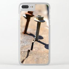 Splitting Wood Clear iPhone Case