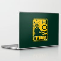 tom selleck Laptop & iPad Skins featuring Tom Waits by Silvio Ledbetter