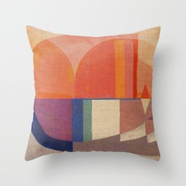Sailing in Splendid Sunrise Throw Pillow