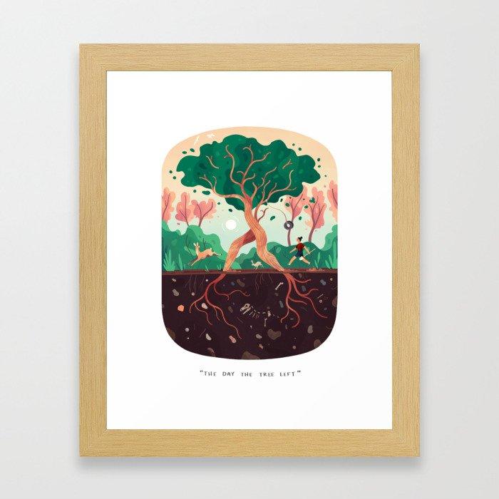 The Day the Tree Left Framed Art Print