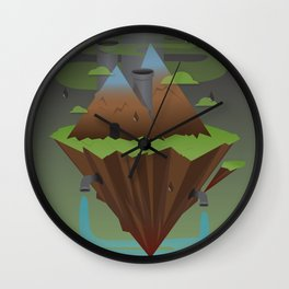 Save the Planet Wall Clock