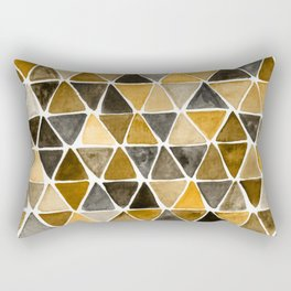 Earthy Triangles Rectangular Pillow