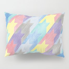 Multicoloured Houndstooth Pillow Sham
