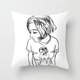nik x Throw Pillow